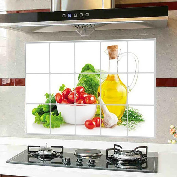 Waterproof Anti-oil Stain Kitchen decoration Wall Sticker Tile Decal-Waterproof aluminum foil wall sticker-All10dollars.com