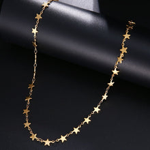 Load image into Gallery viewer, Star Stainless Steel Chain Necklace Gold Silver Color For Pendant Pentagram-Star necklace-All10dollars.com