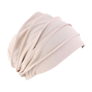 Elastic Cotton Turban Hat Solid Color Women Warm Winter Headscarf Bonnet Inner Hijabs Cap Muslim Hijab Wrap-women scarves-All10dollars.com