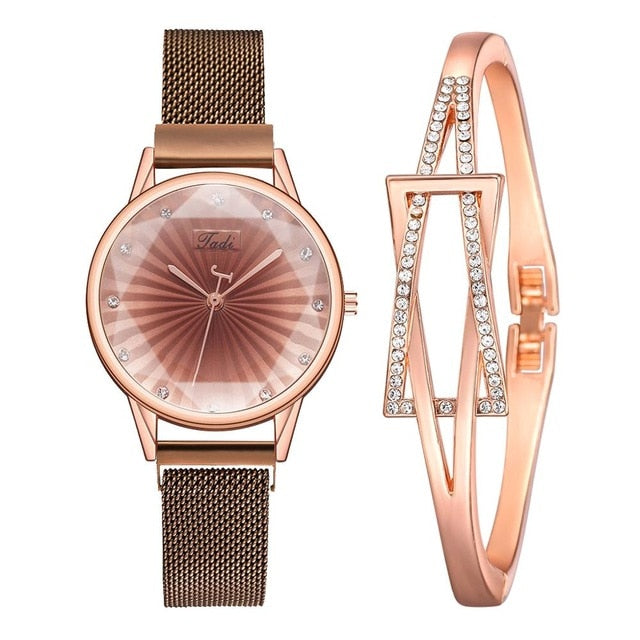 2pcs Set Luxury Women Watch Bracelet-women watch-All10dollars.com