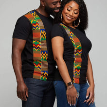 Load image into Gallery viewer, Couple Clothing Summer T Shirt with kente design-couples clothing-All10dollars.com