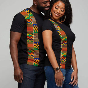 Couple Clothing Summer T Shirt with kente design-couples clothing-All10dollars.com