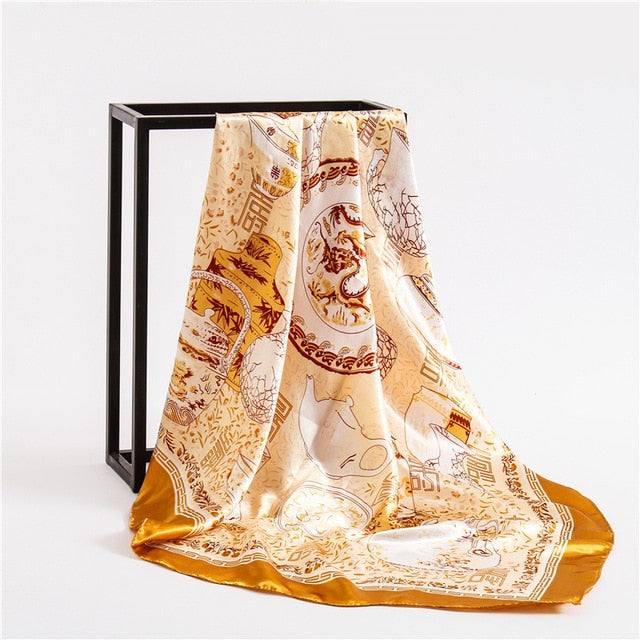 Square Silk Scarves-women scarves-All10dollars.com