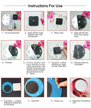 Load image into Gallery viewer, Sticker wall clock acrylic mirror  quartz diy