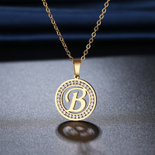 Load image into Gallery viewer, Stainless Steel 26 letters A-Z Necklace Crystal Rhinestone Necklaces For Women Wedding-26 lettters A-Z-All10dollars.com