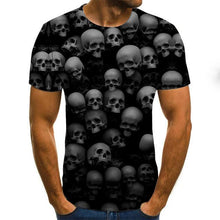Load image into Gallery viewer, Gothic Skulls Print Men's Black shirt-gothic skull print top-All10dollars.com