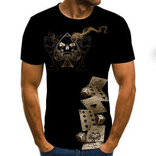 Load image into Gallery viewer, Gothic skull men's T-shirt Dice