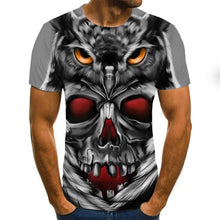 Load image into Gallery viewer, Triple Eyes Gothic Skull Print Men Tee-gothic skull print top-All10dollars.com