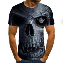 Load image into Gallery viewer, Gothic Print Men Shirt Grey Black-skull print shirt-All10dollars.com
