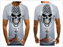 Load image into Gallery viewer, White skull Printed 3D Men's T-shirt