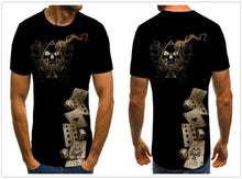 Load image into Gallery viewer, Gothic skull men's T-shirt Dice-gothic skull print top-All10dollars.com
