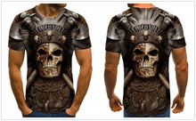 Load image into Gallery viewer, Motorcycle Skull Men's Brown T-shirt