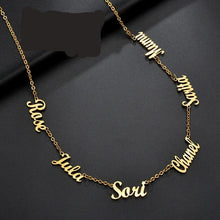 Load image into Gallery viewer, Necklaces Stainless Steel Multiple Names Choker Chain-necklace-All10dollars.com