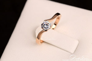 Debi Austrian Cubic Zirconia Engagement/Wedding Rings-Wedding Ring-All10dollars.com