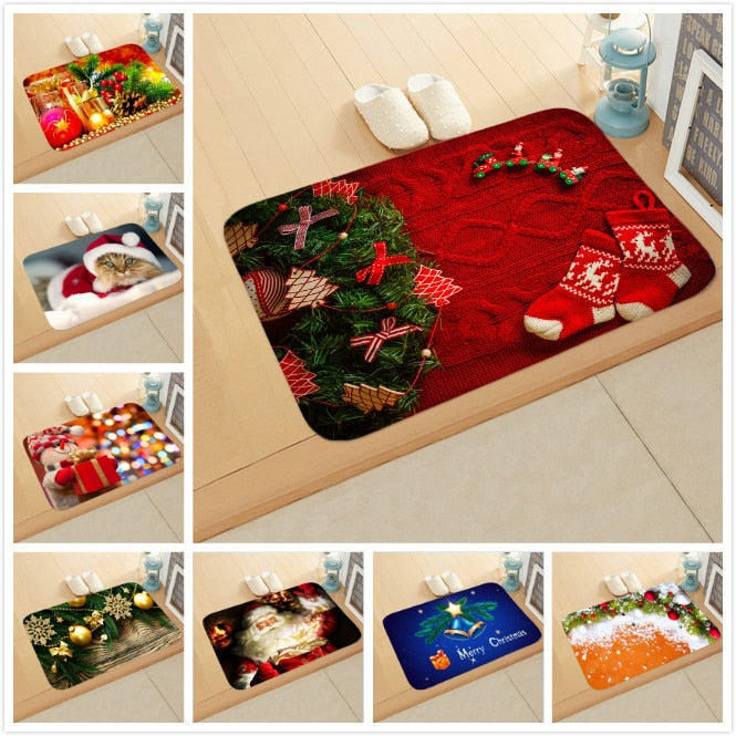 Christmas Doormat Kitchen Mat Santa Claus Non-Slip Rug Gifts-Christmas mat Non-Slip-All10dollars.com