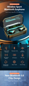 Bluetooth Earphone V5.0 9D Stereo Wireless Headphones Sport Waterproof Earphones Mini True Earbuds Headsets for cellphone-All10dollars.com