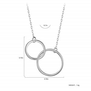 Necklace Gift Double Circle Necklaces Women Round Circles Infinity Necklace Aunt Uncle Friendship-gift to niece-All10dollars.com