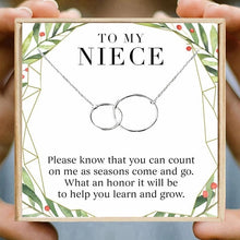 Load image into Gallery viewer, Necklace Gift Double Circle Necklaces Women Round Circles Infinity Necklace Aunt Uncle Friendship-gift to niece-All10dollars.com
