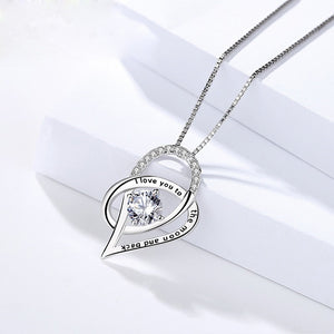 Necklace Family Love Chain Necklace Heart Pendant Necklaces I Love You to the Moon Jewelry-Woman necklace-All10dollars.com