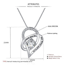 Load image into Gallery viewer, Necklace Family Love Chain Necklace Heart Pendant Necklaces I Love You to the Moon Jewelry-Woman necklace-All10dollars.com