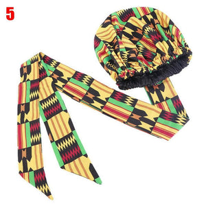 Hair Bonnet Turban Ankara Print