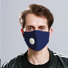 Load image into Gallery viewer, 2 Cotton face Mask with breathing valve-face mask-All10dollars.com