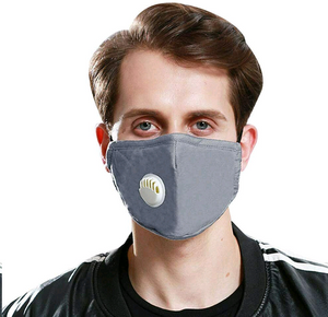 2 Cotton face Mask with breathing valve-face mask-All10dollars.com
