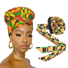 Load image into Gallery viewer, Hair Bonnet Turban Ankara Print