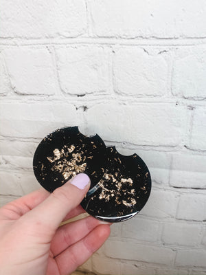 Open image in slideshow, Solid Gold Flake Coasters