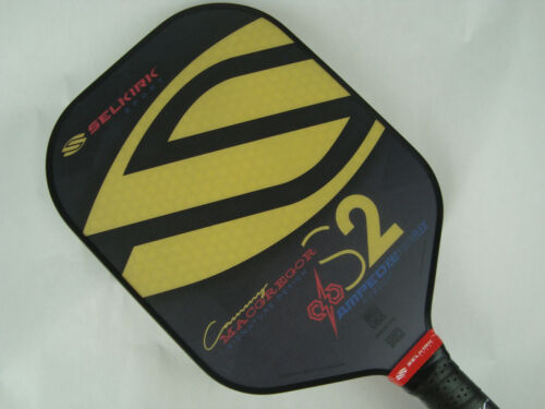 Selkirk Amped X5 S2 Cammy MacGregor Signature Pickleball Paddle Midweight Gold