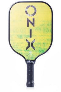 Onix React Graphite Pickleball Paddle Lucy Kovalova Matt Wright Green Yellow
