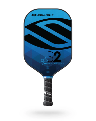 2021 Selkirk Amped X5 S2 Pickleball Paddle Midweight Fiber Flex Sapphire Blue