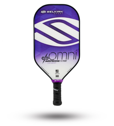 2020 Selkirk Amped X5 Omni Pickleball Paddle Lightweight Fiber Flex Purple