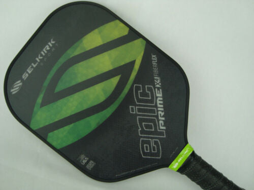 Selkirk Prime X4 Epic Pickleball Paddle Fiber Flex Tech Fields of Green