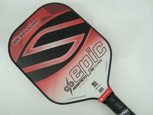 2020 Selkirk Amped X5 Epic Pickleball Paddle Midweight Fiber Flex Red