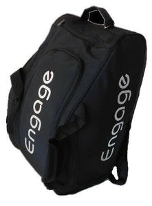 Engage Pickleball Team Bag Backpack Paddle Bag Black Silver