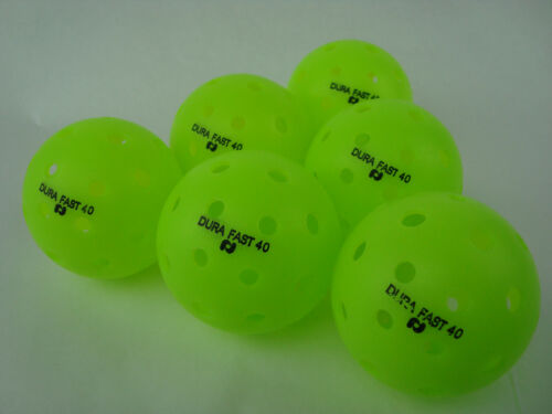 NEW 6 Dura Outdoor Pickleball Balls DuraFast 40 Neon Green set of 6