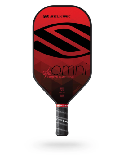 2021 Selkirk Amped X5 Omni Pickleball Paddle Midweight Ruby Red