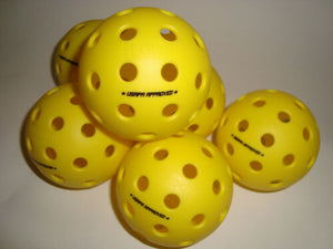 6 Onix Fuse Outdoor Pickleball Balls Tournament Meet USAPA Pack of 6 Yellow
