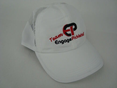Team Engage Sport Lightweight Adjustable Hat Color White with Red Lettering