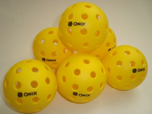 6 Onix Pure2 Pickleball Balls Outdoor Pure Set of 6