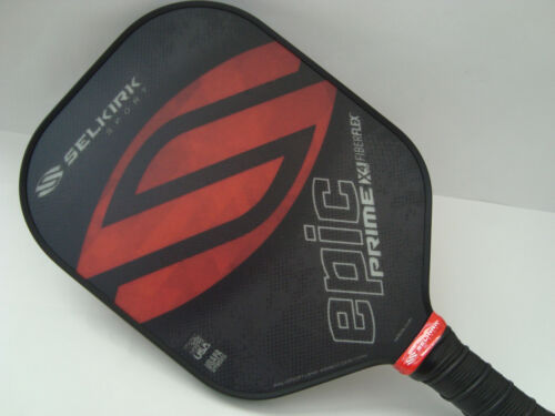 Selkirk Prime X4 Epic Pickleball Paddle Fiber Flex Tech Red Sky
