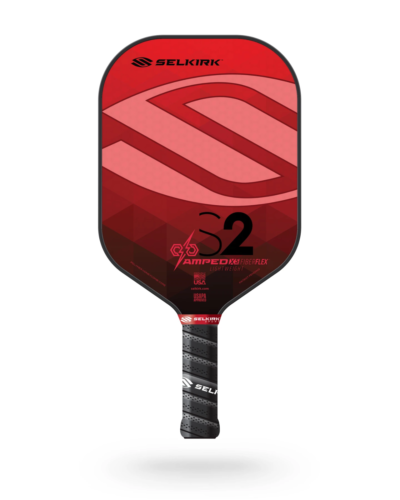2021 Selkirk Amped X5 S2 Pickleball Paddle Lightweight Fiber Flex Ruby Red