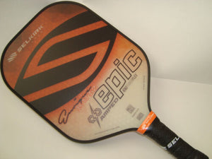 Enrique Ruiz Selkirk Amped X5 Epic Pickleball Paddle Midweight Signature Orange