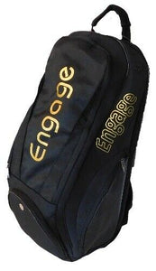 Engage Pickleball Players Backpack Paddle Bag Black Gold