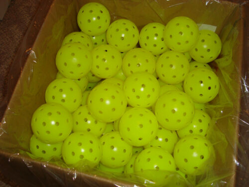 Box of 100 Franklin X-40 Pickleball Outdoor Ball Box of 100 Optic Yellow