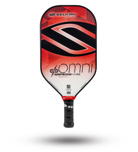 2020 Selkirk Amped X5 Omni Pickleball Paddle Midweight Fiber Flex Red
