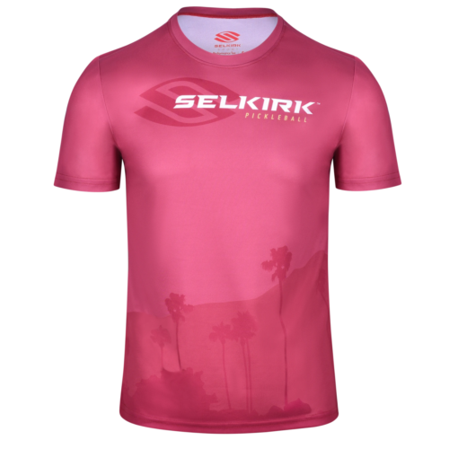 Selkirk California Limited Edition Men's Crew T-Shirt L Red Burnt Sunset