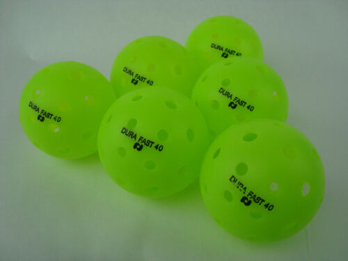 12 Dura Outdoor Pickleball Balls DuraFast 40 Neon Green 12 Pack