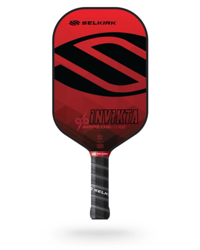 2021 Selkirk Amped X5 Invikta Pickleball Paddle Midweight Ruby Red